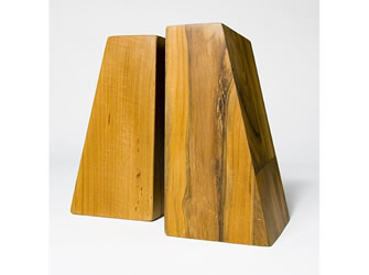 Teak Bookends